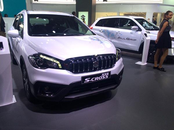 Suzuki S-cross facelift showcased at Paris Motor Show