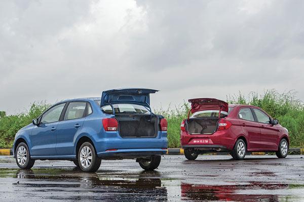 Volkswagen Ameo diesel vs Ford Figo Aspire diesel comparison