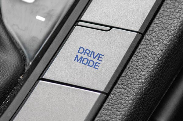 Eco, Normal and Comfort modes alter gear shift points; exclusive to automatic variants, naturally.
