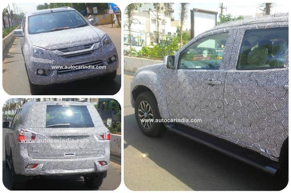 India-spec Isuzu MU-X interior spied