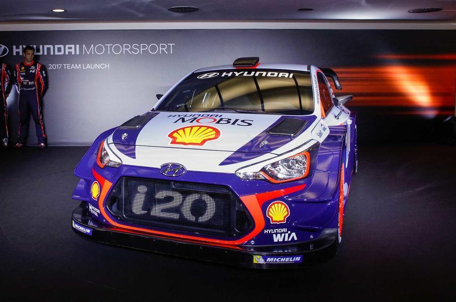 Hyundai unveils i20 Coupe WRC challenger