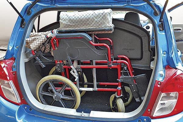 The 235-litre boot was wide enough to hold my grandmother's wheelchair.