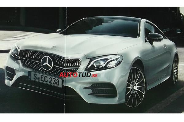 New Mercedes-Benz E-class coupe leaked