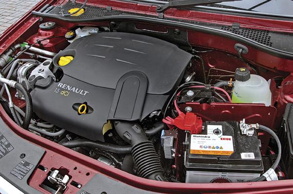 1.5 dCi motor delivers power in a linear manner.