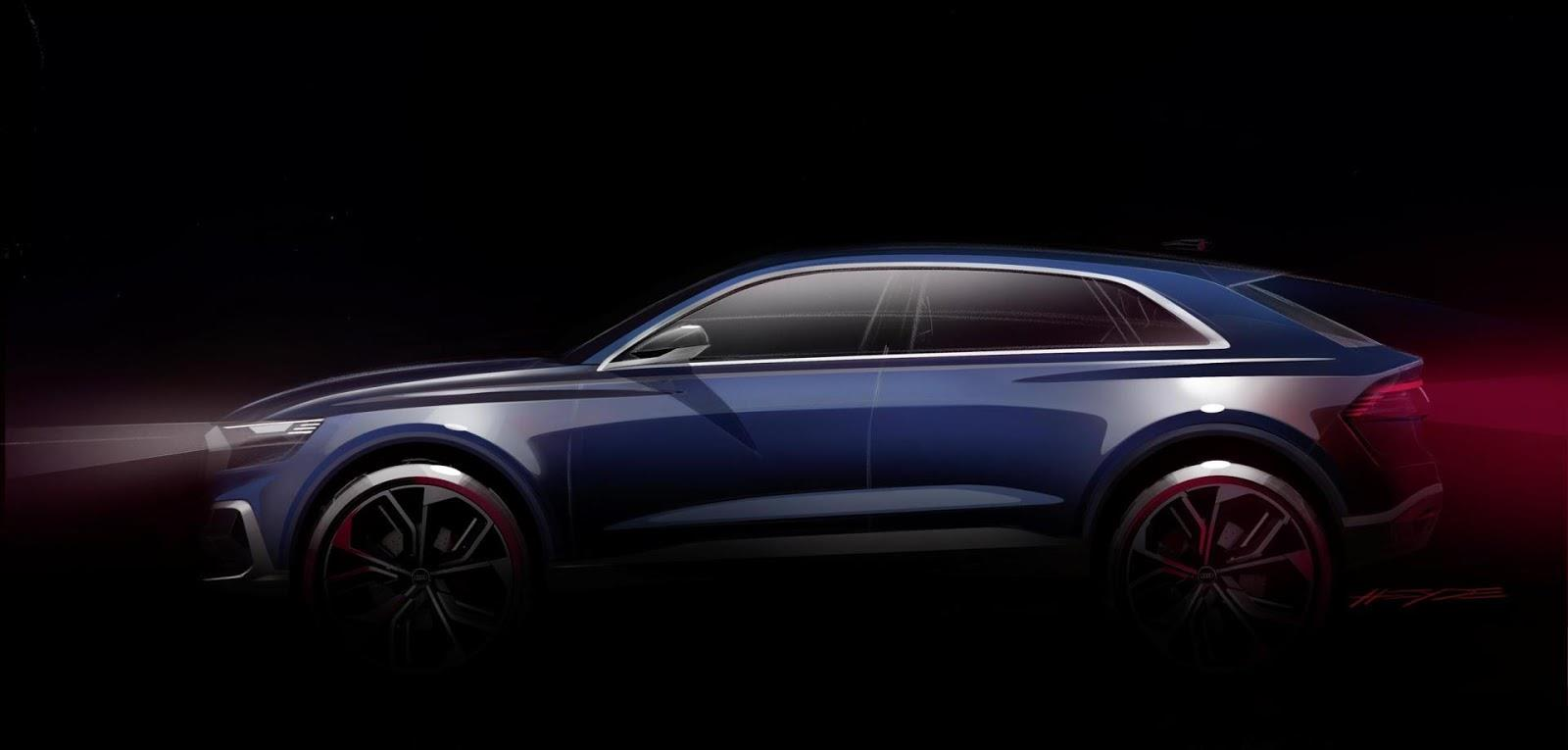 Audi Q8 concept teased ahead of Detroit reveal