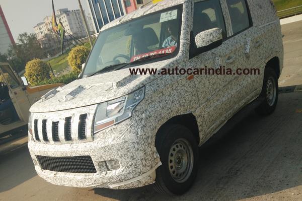 Mahindra TUV long wheelbase spied