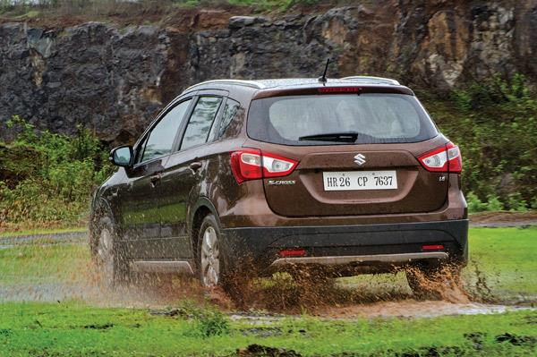 It may not be a proper SUV, but the S-cross can still manage some light off-roading.