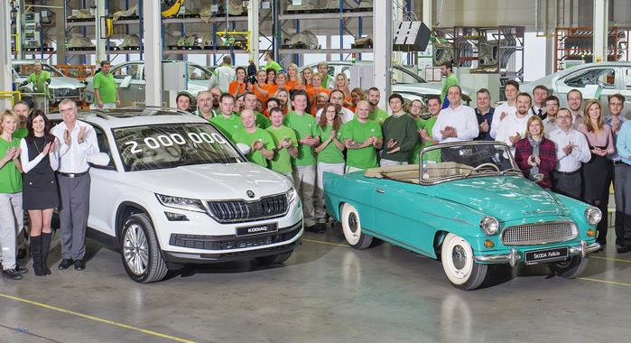 Skoda's Kvasiny plant reaches two million production milestone