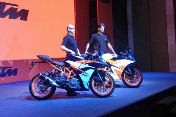 2017 KTM RC 200, RC 390 launched
