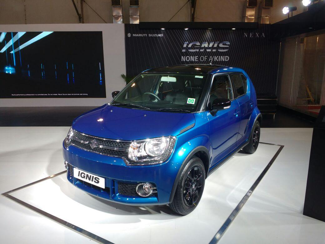 Maruti Ignis on display at the Autocar Performance Show