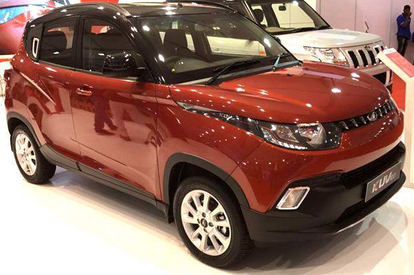 Updated Mahindra KUV100 showcased at APS 2017