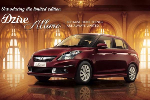 Maruti Dzire Allure special edition launched