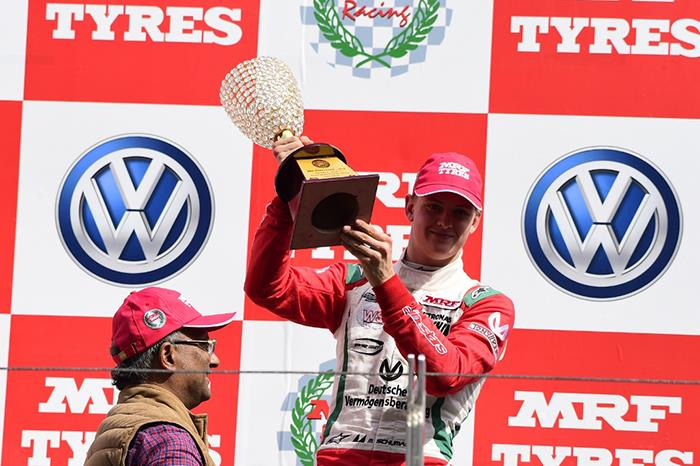 Mick Schumacher wins in MRF Challenge at BIC