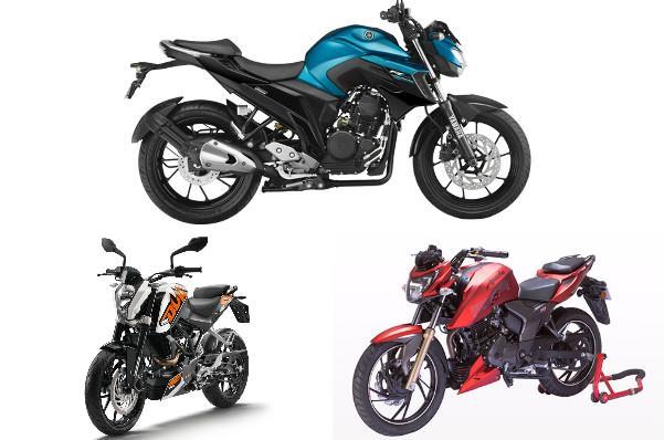 Yamaha FZ25 vs TVS Apache RTR 200 vs KTM Duke 200: Specifications comparison