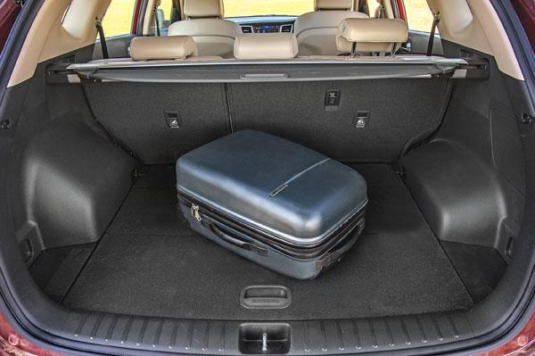 The large 513-litre boot can be expanded via 60:40 split rear seatback.