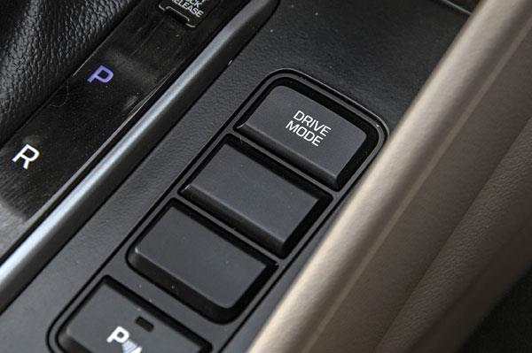 Eco, Sport and Normal drive mode selector on automatic cars only.