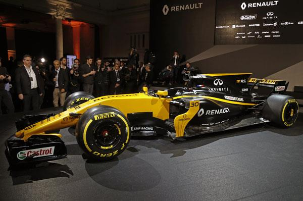 Renault reveals its 2017 F1 car