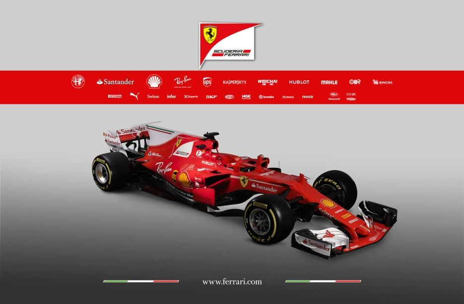 Ferrari's SF70H 2017 F1 car breaks cover
