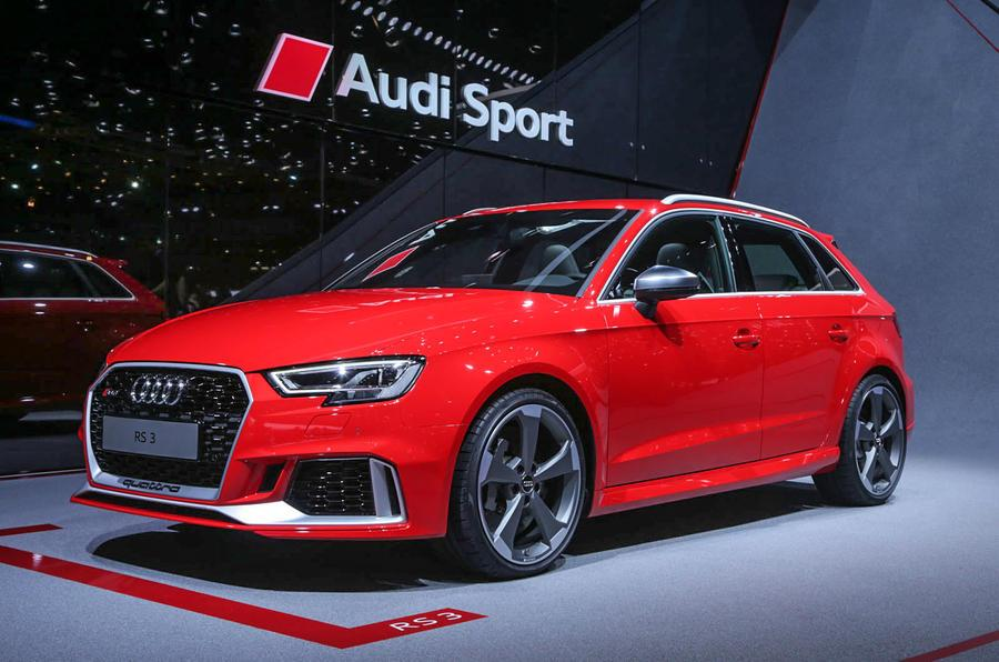 Updated Audi RS3 hatchback breaks cover at Geneva