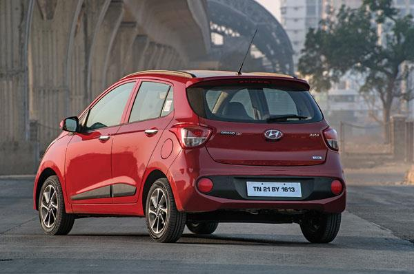Grand i10 is conventional in its design and styling is restrained too.