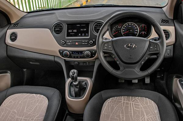 User-friendly and well-finished Grand i10 dash now sports a touchscreen.