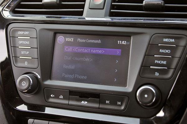 Infotainment system is fairly responsive to voice commands.