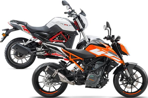 KTM 250 Duke vs Benelli TNT 25: Specifications comparison