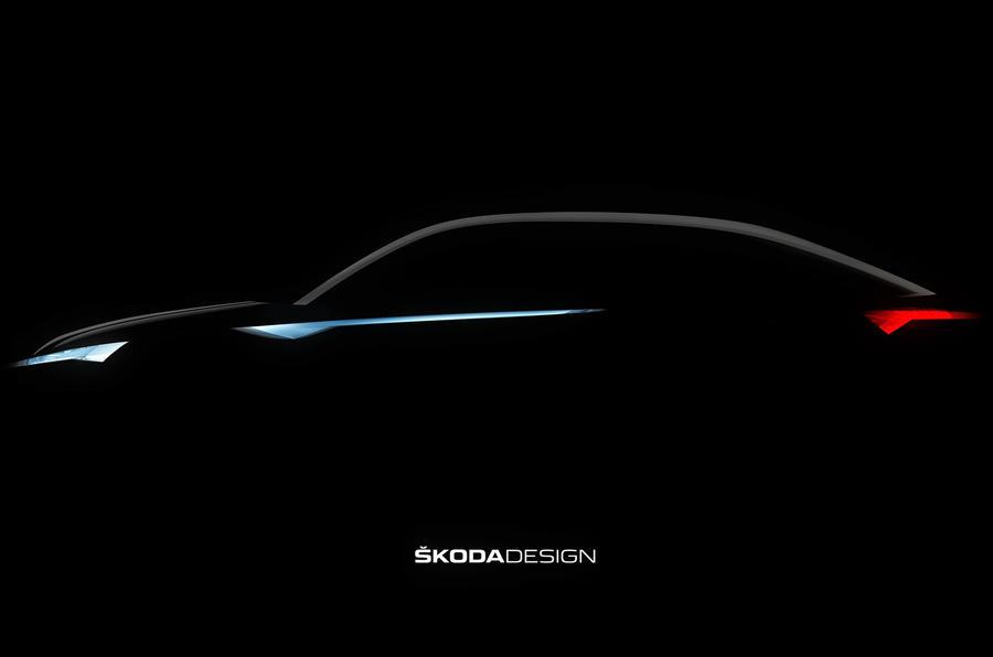 Skoda electric SUV-coupé concept teased