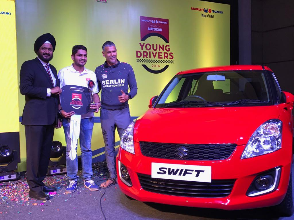 Sanmesh Waghmare wins Autocar Young Drivers 2016