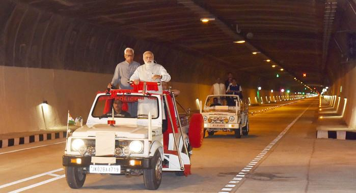 India's longest road tunnel opens in J&K