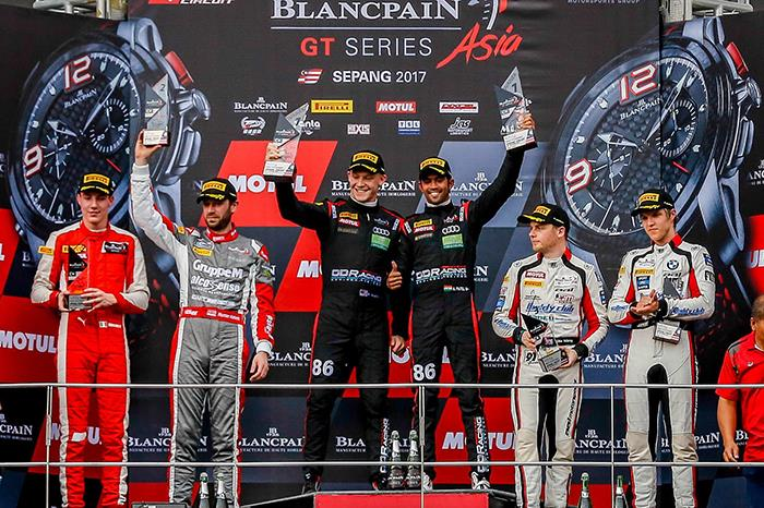 Aditya Patel and Mitch Gilbert lead Blancpain Asia Series