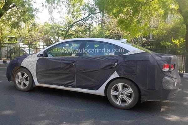 Next-gen Hyundai Verna spied in India