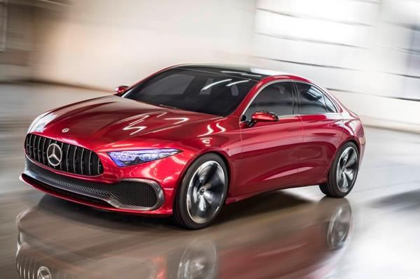Mercedes Concept A sedan unveiled