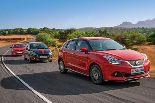 Maruti Baleno RS vs Abarth Punto vs Polo GT TSI comparison