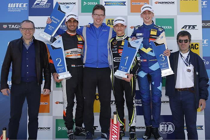 Landmark F3 podium for Jehan Daruvala