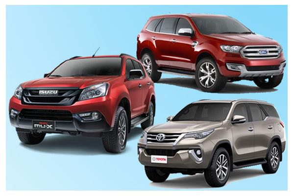 Isuzu MU-X vs Toyota Fortuner vs Ford Endeavour: Specifications comparison