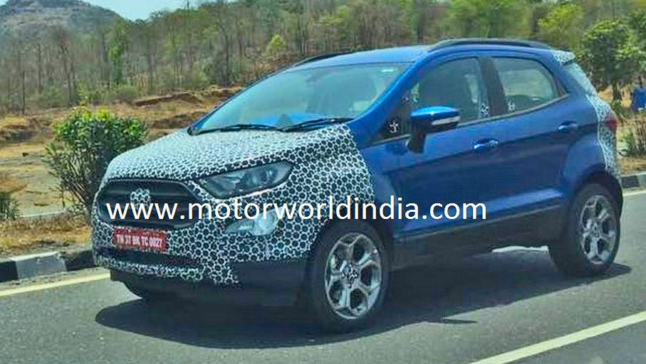 2017 Ford EcoSport facelift spied in India