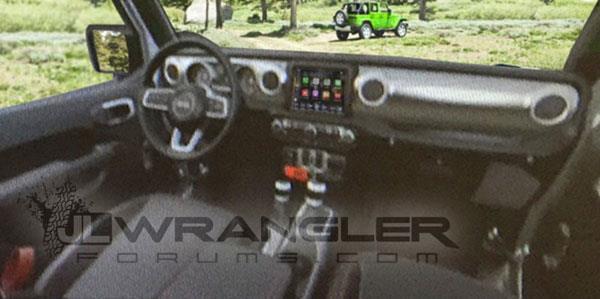 2018 Jeep Wrangler interior leaked