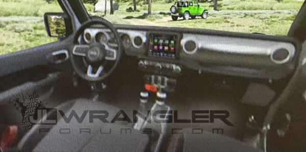 2018 Jeep Wrangler interior leaked