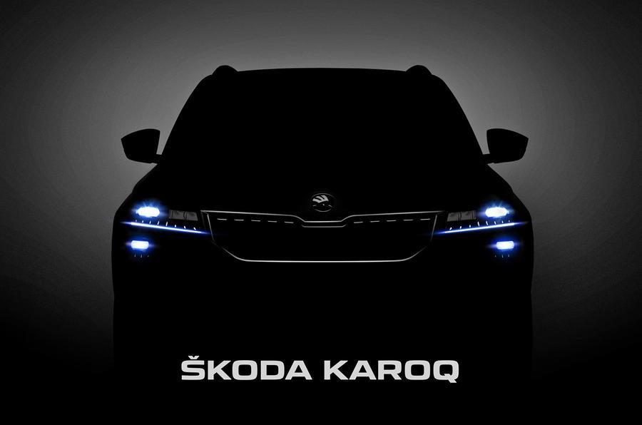 Skoda Karoq SUV teased ahead of unveil