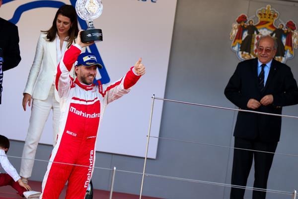 Formula E podium for Mahindra Racing at Monaco