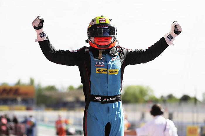 Arjun Maini takes maiden GP3 win at Barcelona