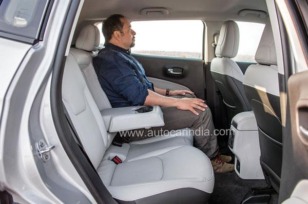 Rear seat very comfy, offers plenty of thigh support and cushioning is super.