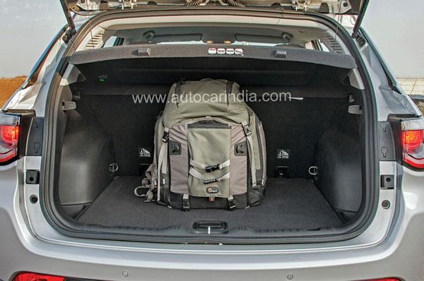 408-litre boot is wide and deep and you get a full-size spare under the floor.