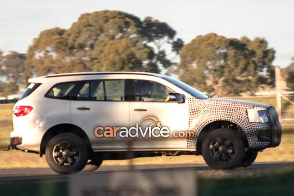 Ford Endeavour facelift spied in Australia