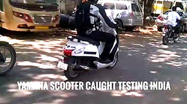 New Yamaha scooter spied in Chennai