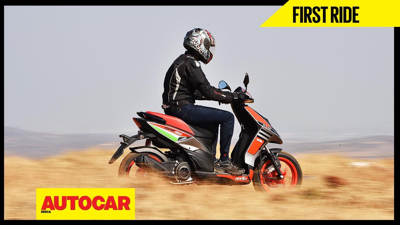 Aprilia SR150 Race video review