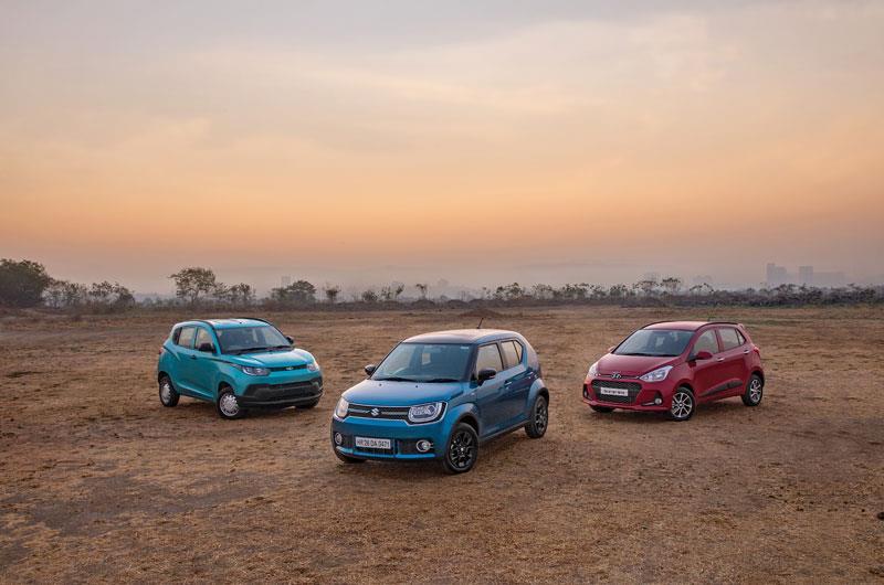 Maruti Ignis vs Grand i10 vs KUV 100 diesel comparison