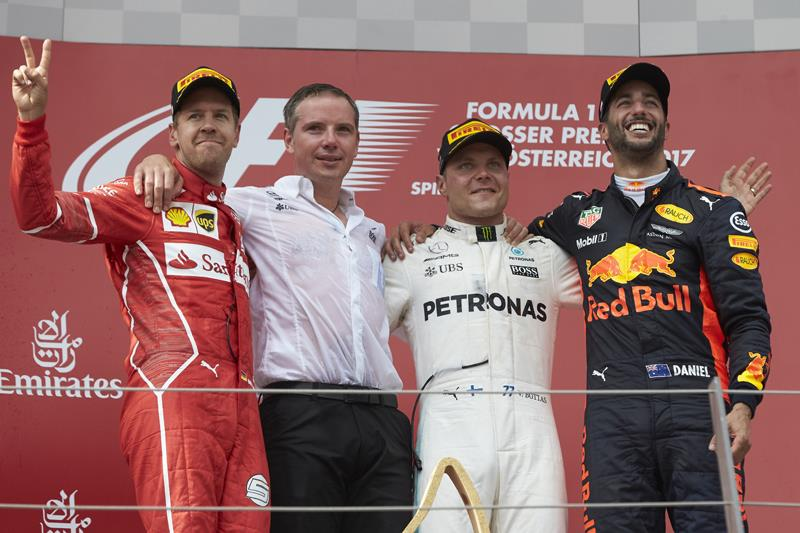 F1: Bottas defeats Vettel to win Austrian GP