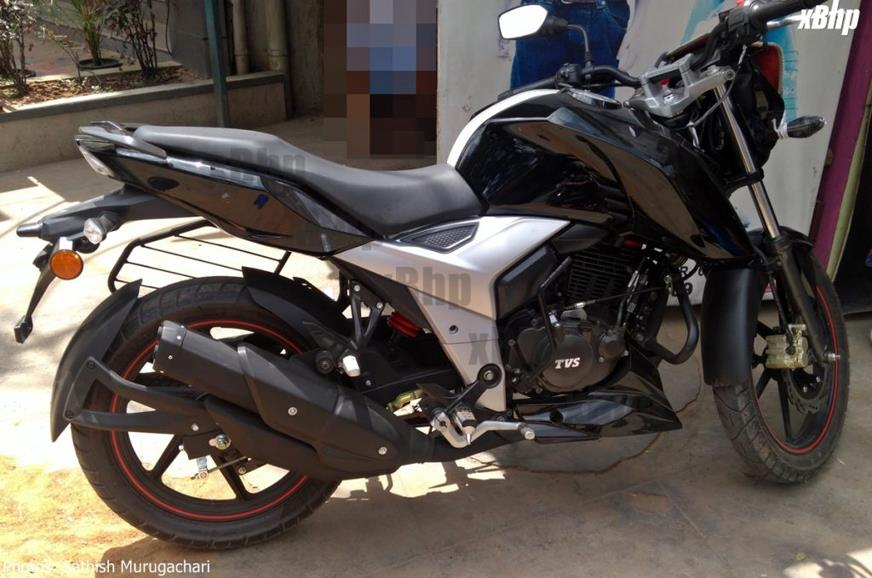 Facelifted TVS Apache RTR 160 spotted